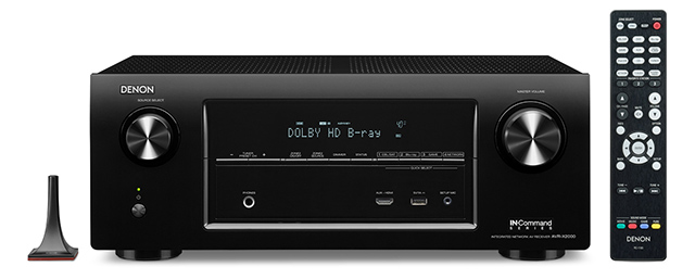 Denon avr x2000 network airplay multi zone home for Multi zone receiver yamaha