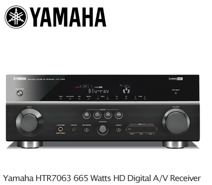 Yamaha htr7063 7 1 hd receiver hdmi 6ins 2outs 665w for Yamaha multi zone receiver