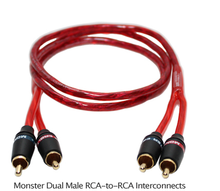 1m monster 2 rca to 2 rca stereo audio cable 3 feet new ebay Rca To Speaker Wire Cable one, brand new, monster 3 3 feet (1 meter) rca cable rca to speaker wire cable