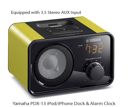 yamaha pc computer laptop speaker with alarm clock and ipod iphone dock charger ebay. Black Bedroom Furniture Sets. Home Design Ideas