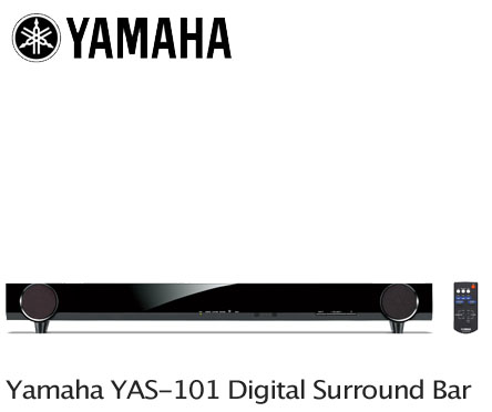 Yamaha yas 101 powered home theater surround sound bar for Yamaha surround sound manual
