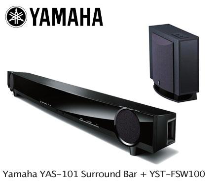 yamaha yas 101 digital surround sound bar and yamaha yst. Black Bedroom Furniture Sets. Home Design Ideas