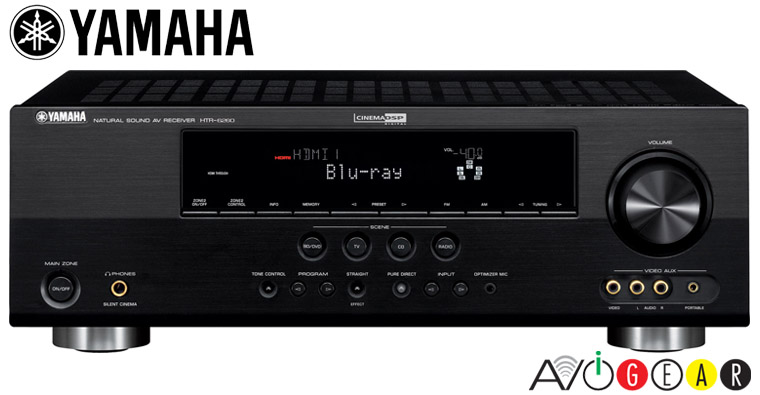 Yamaha htr6260b 7 1 hd surround hdmi receiver htr6260 b ebay for Yamaha multi zone receiver